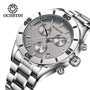 Бренд ochstin спортивные наручные часы Для Мужчин's военные водонепроницаемые часы модные Нержавеющаясталь мужские наручные часы, мужские ча...