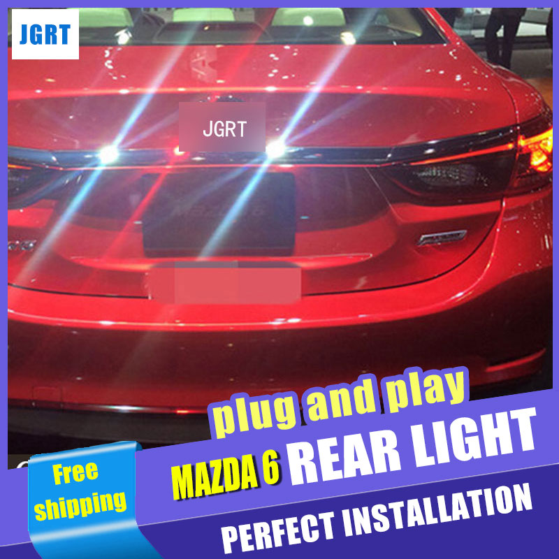 A&T Car Styling for Mazda 6 Taillights 2014-2015 Mazda6 Atenza LED Tail Light Rear Lamp DRL+Brake+Park+Signal