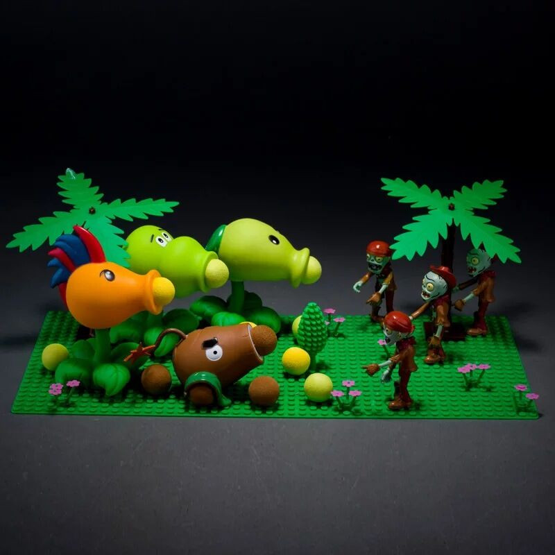Toys Model-Toy Action-Figure Zombies Children Peashooter PVC for High-Quality Brinquedos