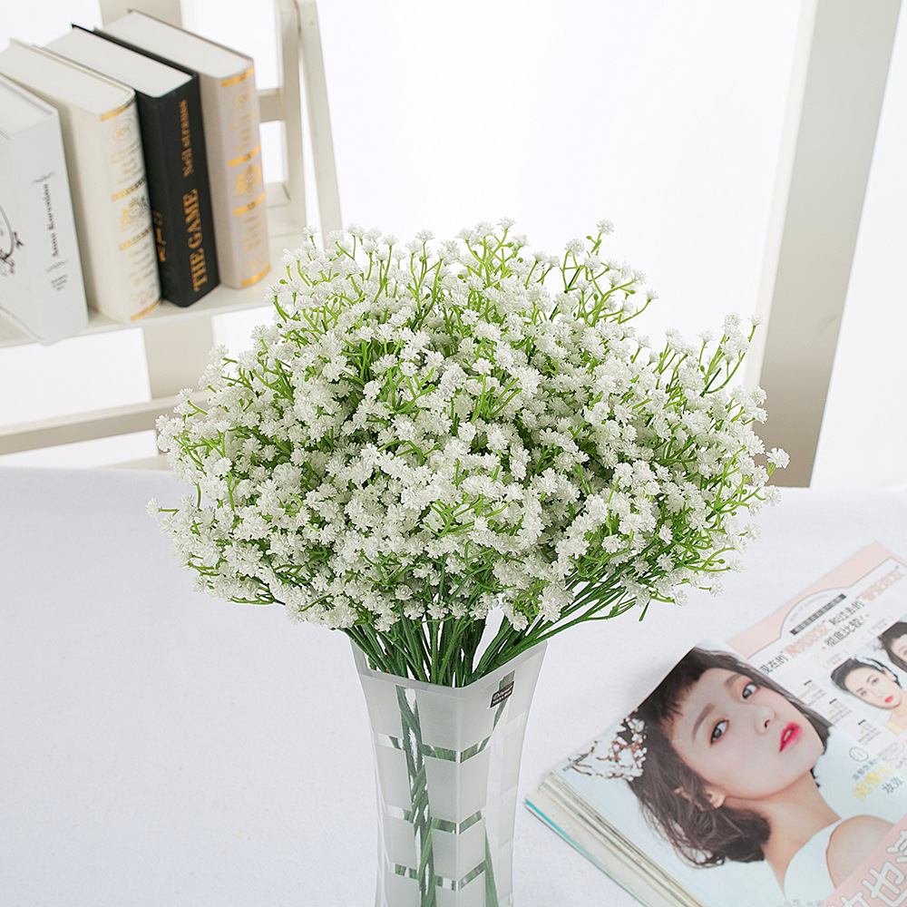 50cm Fake Gypsophila Flower Pink Artificial Flowers Bouquet Romantic Dried for Home Wedding Decor