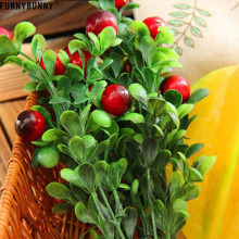 FUNNYBUNNY Simulation Plant Potted Fake Tree Flower Bonsai Acacia Fruit Bean Grass Artificial Floral Party decoration