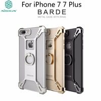 Nillkin For iphone 7 7Plus Case Cover Bumper Bardes 4.7 & 5.5 Aluminum Alloy Back Cover With Ring Phone Holder For iphone7 Case