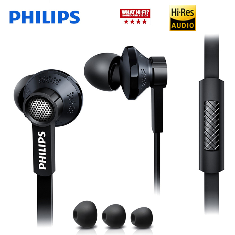 Philips Original Tx1 HiRes earphone high resolution HIFI fever earbuds ear noise canceling earphones for a mobile phone xiaomi ls2 helmet
