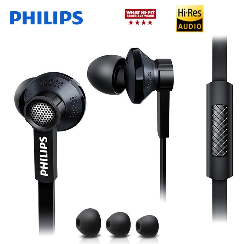 Philips Originale Tx1 Noleggi di trasduttore auricolare di alta risoluzione HIFI febbre auricolari ear auricolari a cancellazione di rumore per un telefono cellulare xiaomi