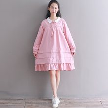 7863e42ee88dd Peter Pan Collar Dress Pink Promotion-Shop for Promotional Peter Pan ...