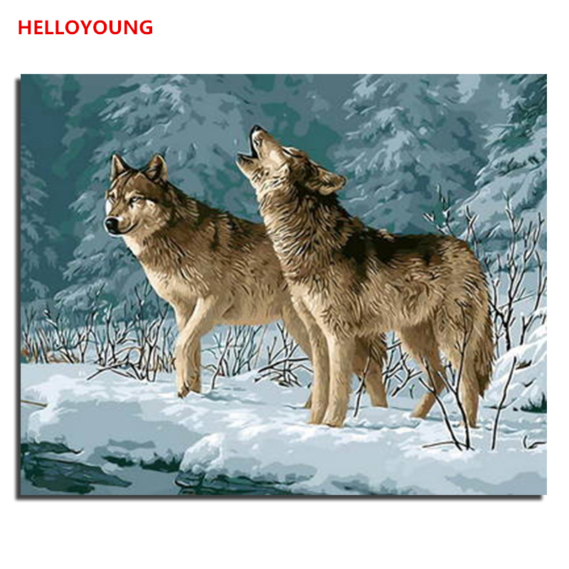 Sweet-Tempered Sled Dog Cross Stitch Kit Animal In Winter Snow 14ct 11ct Count Print Canvas Stitching Embroidery Diy Handmade Needlework Electronic Components & Supplies