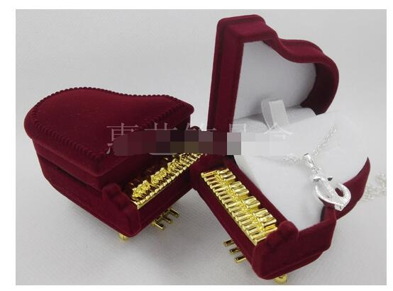 100pcs/lot fedex fast free shipping red piano Ring Box Earring Necklace Pendant Jewelry Treasure Gift piano box
