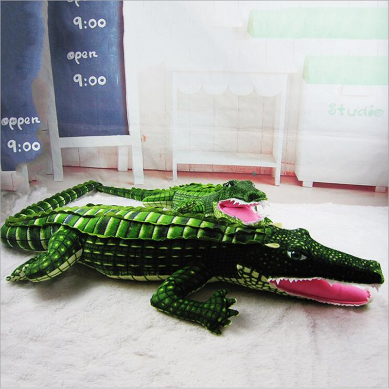 200cm(78.75inch) Super Big Size Simulation Crocodile Lying Plush Pillow Mat Plush Stuffed Toy Cartoon Plush Toys Kids Prize Gift 200cm stuffed animals big size simulation crocodile kawaii plush toy cushion pillow toys for kids