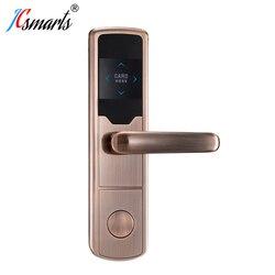 Popular zinc alloy Magnetic RFID door lock hotel room key systems
