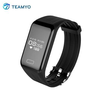 Teamyo Fitness Smart Bracelet Heart Rate Monitor Activity Tracker Smart Band Pedometer remote camera waterproof sport wristband