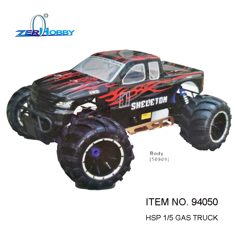 HIGH QUALITY AND BEST PRICING HSP RACING RC CAR 1/5 SCALE SKELETON 94050 GASOLINE POWER RTR MONSTER TRUCK 30CC ENGINE HIGH SPEED 2017 new rovan 1 5 scale gasoline rc car baja 5b high strength nylon frame 29cc engine warbro668 symmetrical steering