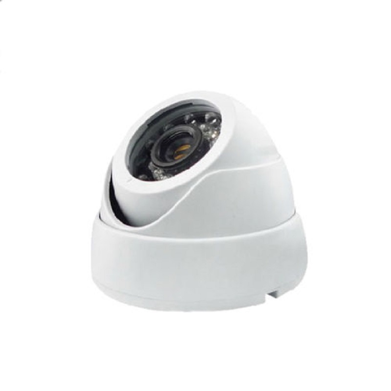 free shipping 1 4mp ahd hd 960p cctv camera 2500tvl outdoor mini 24led night vision infrared metal bullet security surveillance 2017 HD White Analog Ahd Mini Surveillance Security Cctv Camera 720p Infrared 24PCS Night Vision Indoor Dome Security AHD Camera