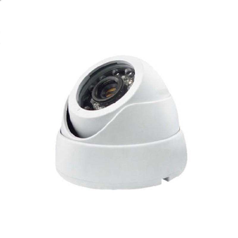 2017 HD White Analog Ahd Mini Surveillance Security Cctv Camera 720p Infrared 24PCS Night Vision Indoor Dome Security AHD Camera new home 2mp hd ahd 1080p camera security cctv white dome 2pcs array infrared night vision surveillance camera ahd h system