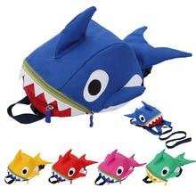 New Hot Cartoon Backpack For Children Shark Shape Kindergarten School Anti-lost Kids Animal Travel