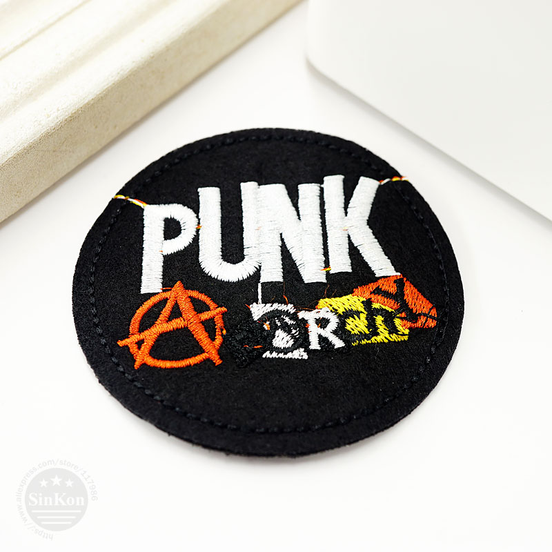Размер панк: 7,4x7,4 см DIY тканевые значки для украшения нашивки для джинсов, сумок, шляп, одежды, шитья, украшения, аппликация, нашивки значки