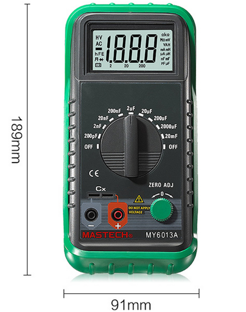 MASTECH MS6013A (MY6013A) Capacitor Tester Tecrep Portable Digital Capacitance Meter 200pF-20mF Electrical Test Diagnostic-tool все цены