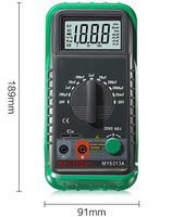 MASTECH MS6013A (MY6013A) Capacitor Tester Tecrep Portable Digital Capacitance Meter 200pF 20mF Electrical Test Diagnostic tool