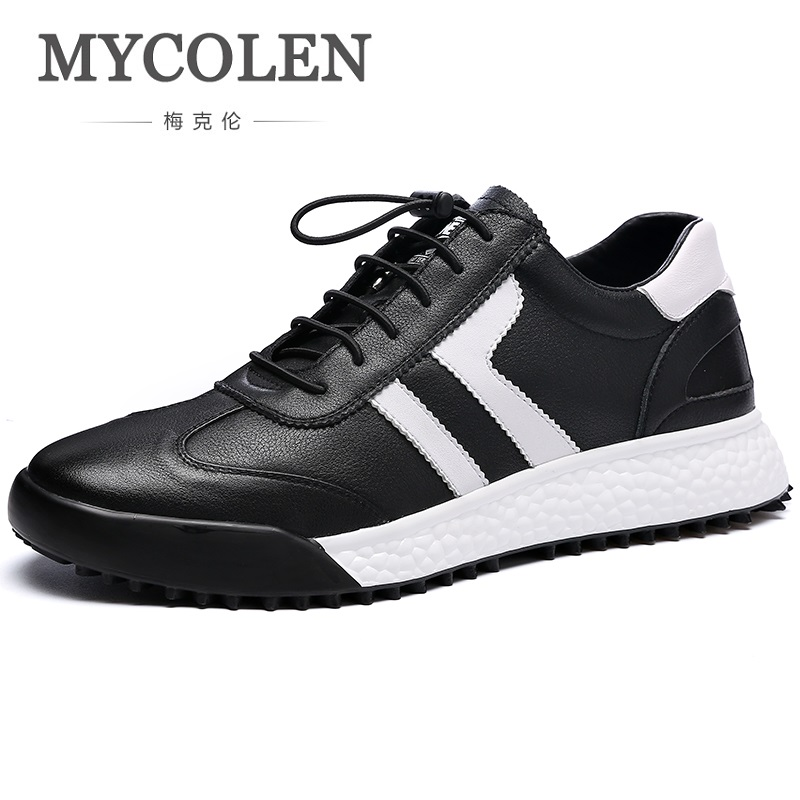 MYCOLEN New Fashion Shoes Men Brand Soft Leather Men's Casual Shoes Male Classic Black White Red Sneakers Sapatenis Masculino 2017 fashion red black white men new fashion casual flat sneaker shoes leather breathable men lightweight comfortable ee 20