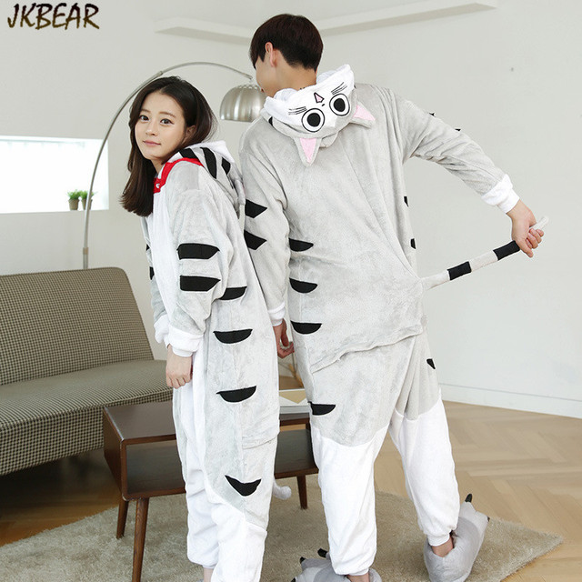 Cute Chi s Sweet Home Cat Onesies for Teenagers and Adults Flannel Funny Animal  Costume Couples Matching Onesie Pajamas S-XL 5dd0b77b8