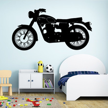Carved motorcycle Wall Sticker Art Modern Wallsticker For Childrens Room Decoration adesivi murali