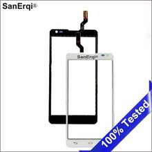 "SanErqi 4.7"" Touch Screen For LG Optimus L9 II 2 D605 B0567 Touch Screen Digitizer Sensor Outer Glass Lens Panel Black White(China)"
