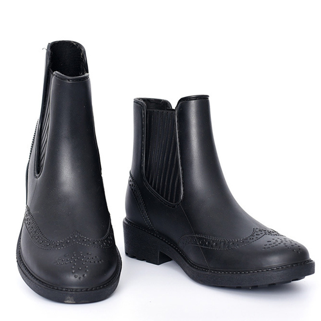 ba09baee86 Autumn Rain Boots Women Antiskid Rainy Shoes Woman Waterproof Rainboots  Spring Ankle Boots For Women Casual