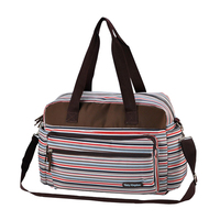 insular Multicolored stripe maternity mother mummy nappy bags multifunctional stroller bags shoulder handbag baby diaper bag Red