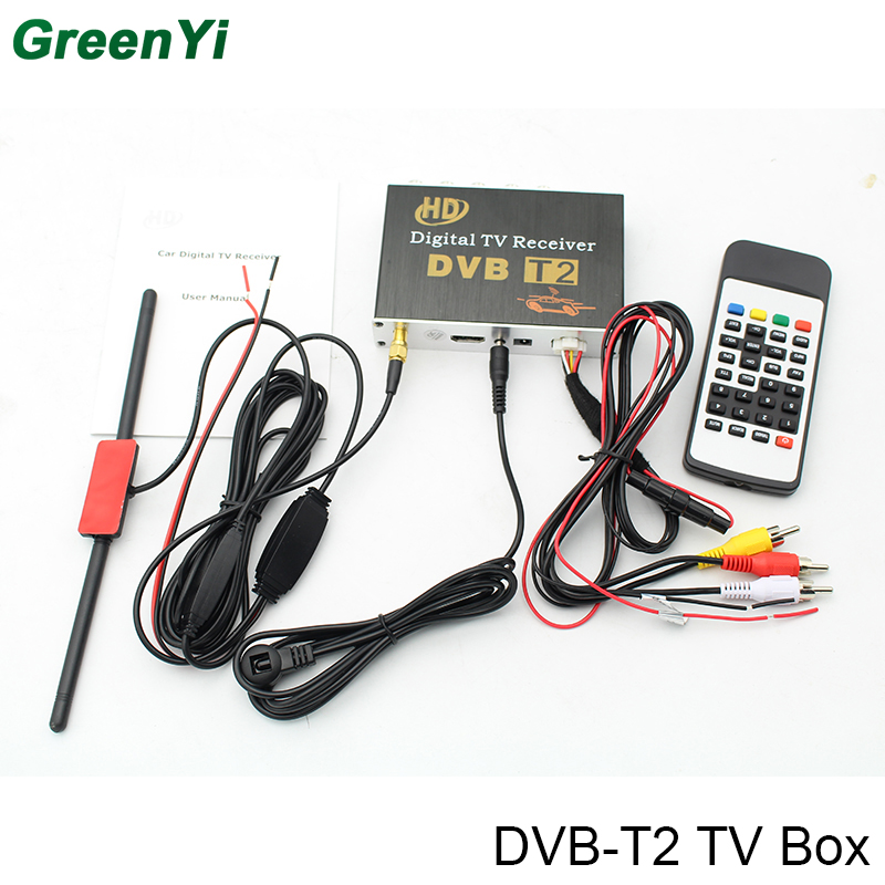 DVB-T2 TV Receiver Box For Car Android 6.0 7.1 8.0 Car DVD Player For Russia Singapore Malaysia And Other DVB-T2 Reigon dvb t isdb digital tv box for our car dvd player
