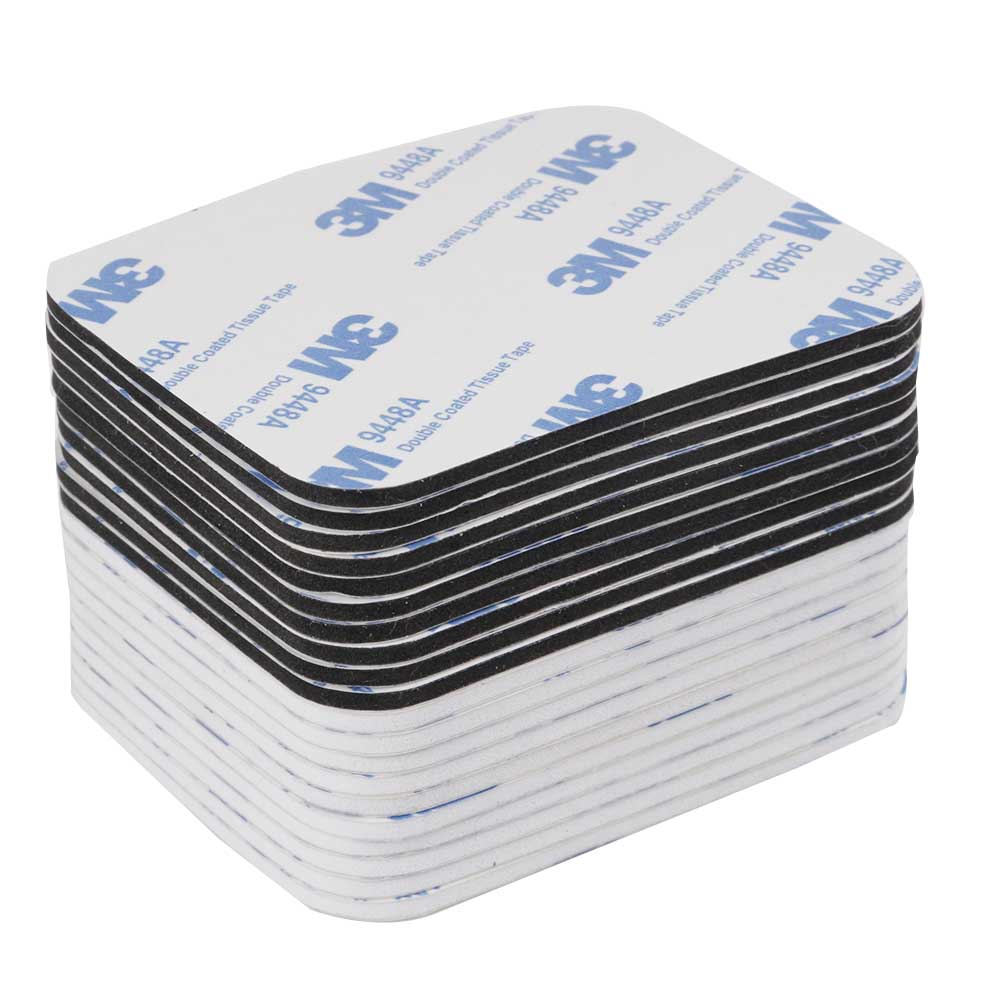 10Pcs/Set Double Sided Tape 3m Black and White Foam Tape Pad Mounting Adhesive Repair Tape