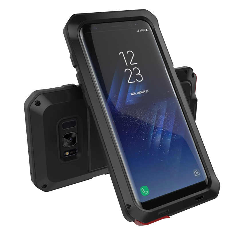 buy popular ecc2a 1ea90 OLAF Heavy Duty Protection Case for Samsung Galaxy S8 S9 S9 Plus S6 S7 Note  8 4 5 S6 Edge S4 S5 Shockproof Doom Armor Metal Case