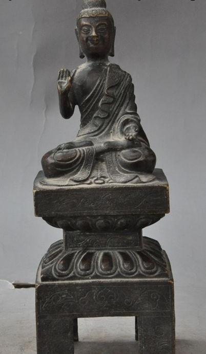 Romantic Tibet Buddhism Crystal Hand Carved Sakyamuni Shakyamuni Tathagata Buddha Statue Antiques