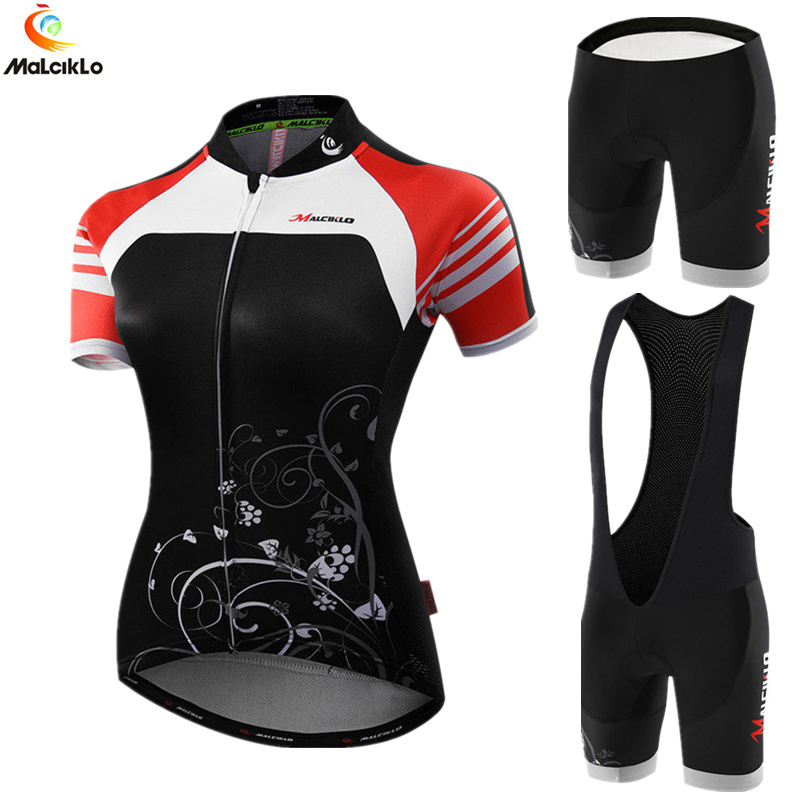 Malciklo Cycling Jersey Women 2018 Maillot Cycling Sets Ropa Ciclismo Mujer Bicycle Clothing <font><b>Bike</b></font> <font><b>Wear</b></font> Clothes Summer Skinsuit image