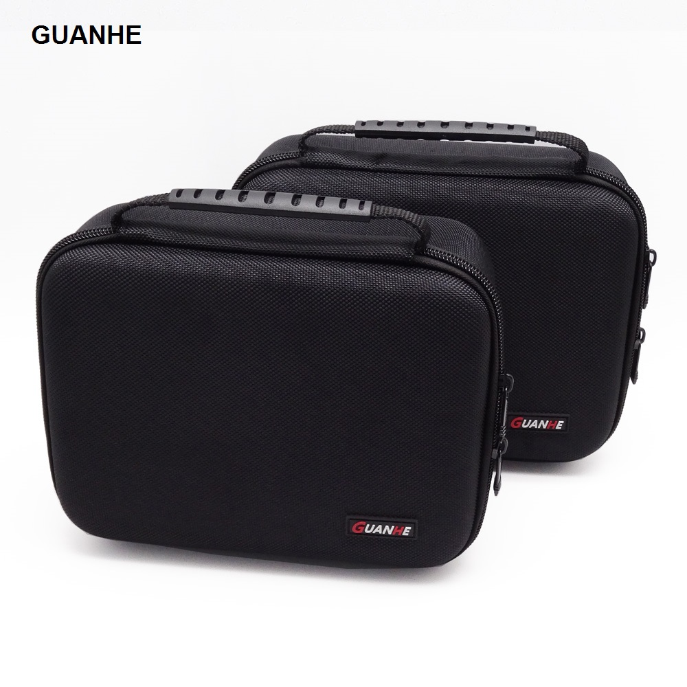 GUANHE - Funda de transporte de bolsa de organizador de cable grande de 3,5 pulgadas puede poner 2 unidades HDD USB Flash Drive Banco de energía