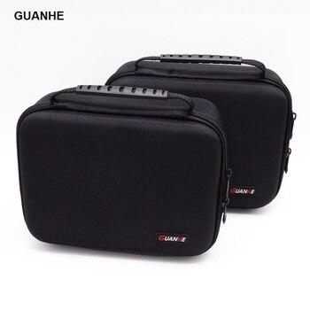 Guanhe 3.5インチ大ケーブルオーガナイザーバッグキャリーケースを置くことができ2ピースhdd usbフラッシュドライブ電源銀行