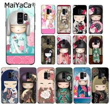 MaiYaCa kawaii Japanese Kokeshi Doll Phone Case for Samsung Galaxy S9 plus S7 edge S6 S10Plus S10lite S10E S8 plus(China)