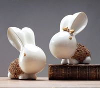 Home Room Decorations Ornaments Bedroom Creative Porch TV Cabinet Modern Minimalist Birthday Gift Rabbit Furnishings