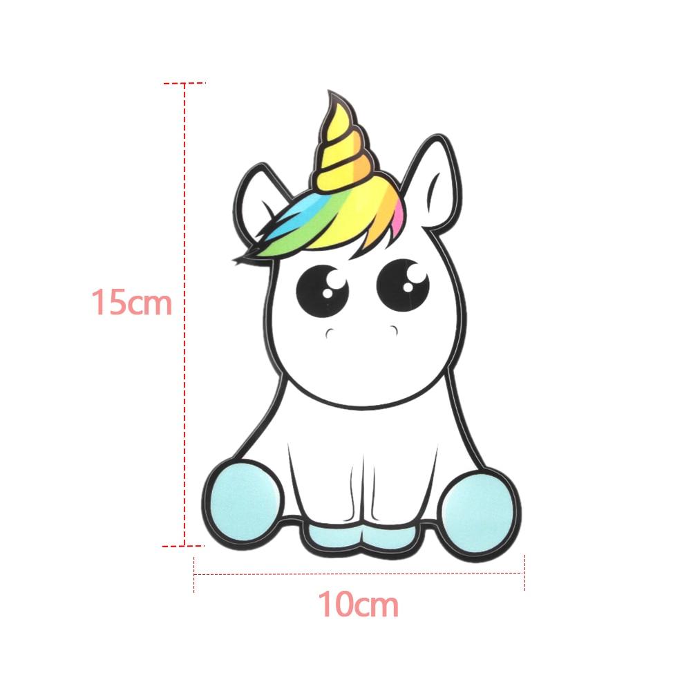 New Vinyl Waterproof Funny Windows Decal Cartoon Unicorn Car Stickers