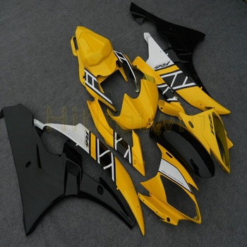 Custom motorcycle body kit for YZF-R6 06 07 YZF R6 2006 2007 ABS Fairing+Screws+yellow  Injection mold