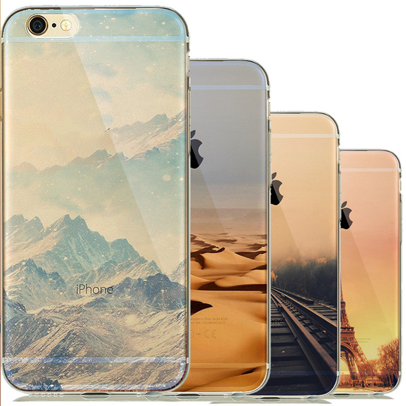 Nature Clear Landscape Phone Cases for iphone 5 5s SE 6 6s capinhas para Soft TPU