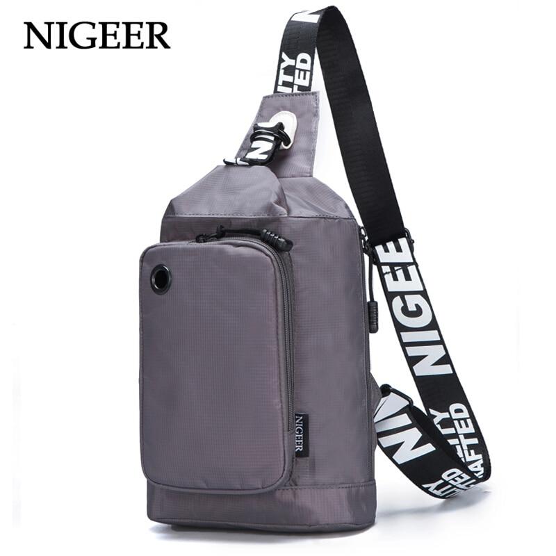 NIGEER Men & Women Chest Bag Travel Crossbody Bags Fashion Single Shoulder Messengers Bag n8812 nigeer men chest bag casual shoulder