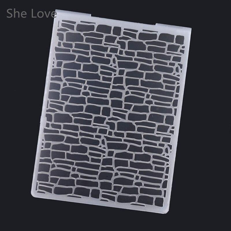 She Love, пластиковая папка с тиснением, прозрачные штампы для скрапбукинга, неправильные блоки, тип, фотоальбом, бумага, ремесленный шаблон|love scrapbook|folder embossing scrapbookingfor crafts | АлиЭкспресс