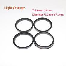 4pcs/set Hub Centric Rings Car Wheel Bore Center Collar 73.1-67.1mm For Hyundai car accessories