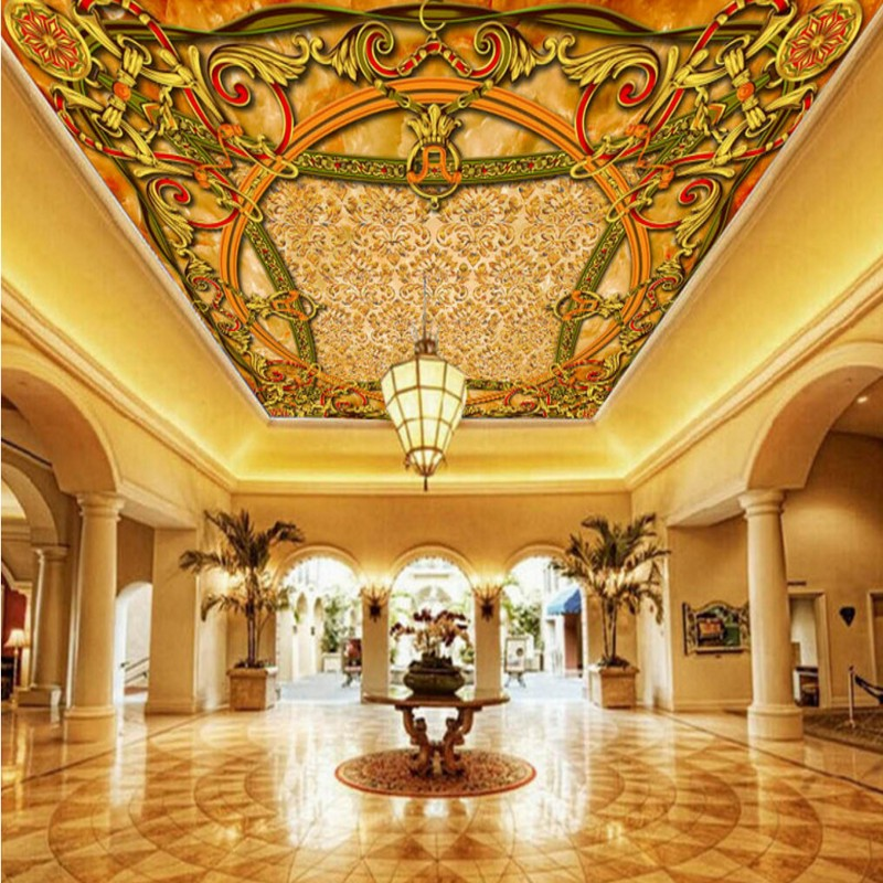 photo wallpaper HD wallpaper 3D rice red stone European style ceiling European carpet floor painting Mural wallpaper