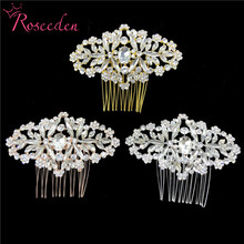 цена на Classic Full Crystal Hair Combs For Brides Wedding Hair Comb Hairclip Hairpin Women Bridal Hair Jewelry Accessories RE3389