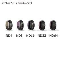 Pgytech filtros de câmera para drone mavic pro, drone dji mavic pro nd4/8/16/32/64 multi camada de revestimento reduzindo lente da cama