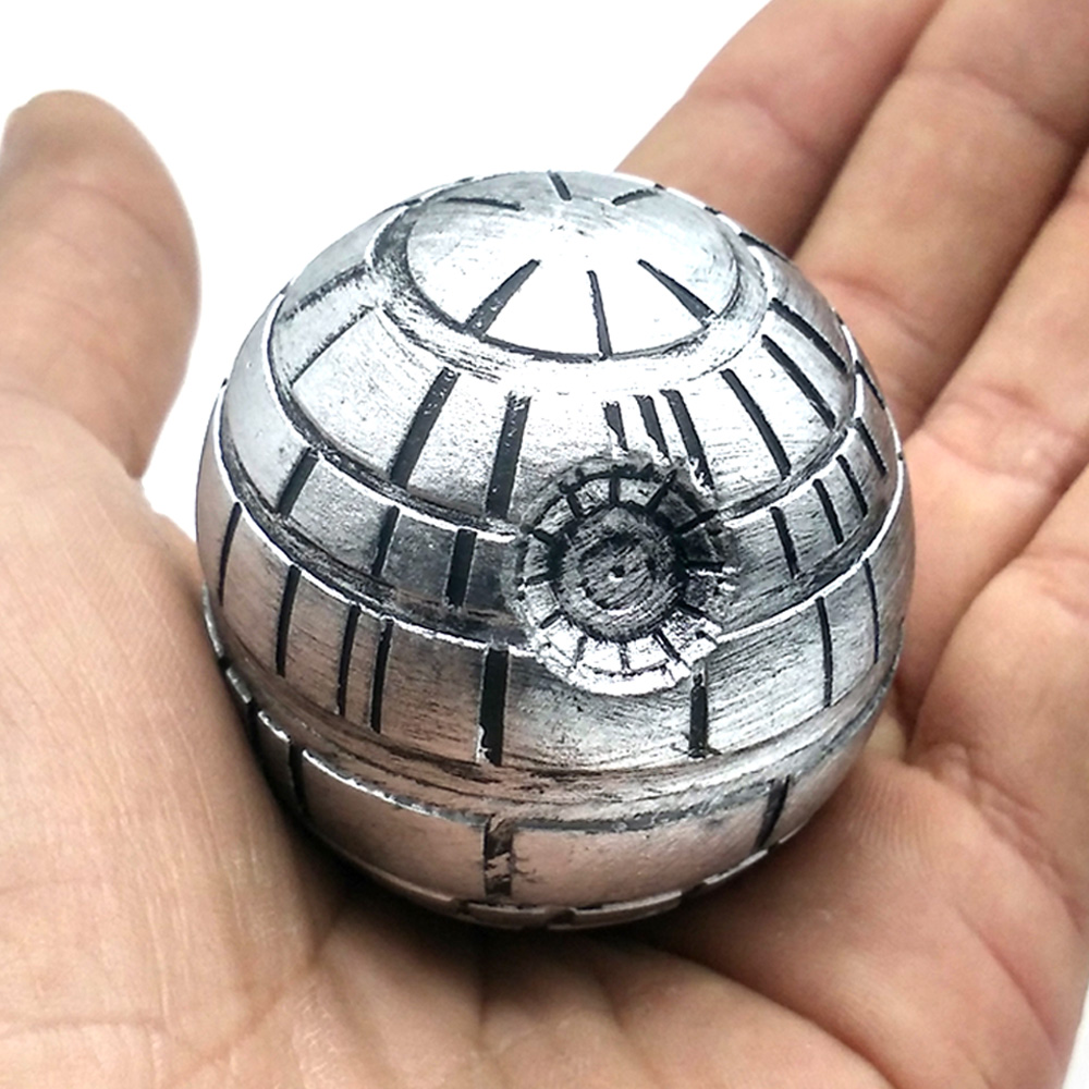 Star Wars Death Star Herb Tobacco Grinder Metallo Plastica Smoking Diserbo Smerigliatrici Trituratore Frantoio 3 strati Diametro 50mm