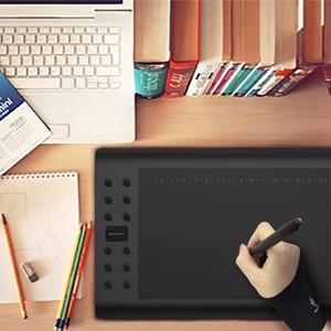 Image 3 - GAOMON dwupalcowy antypoślizgowy czarny artysta rękawica Lycra do tabletu graficznego/kaseton led/długopis bezpłatny rozmiar