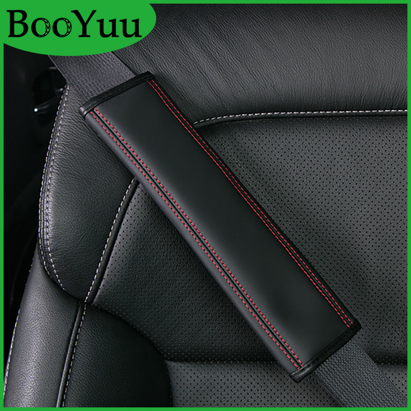 BooYuu Leather CAR Seat belt pad Seat belt shoulder pad Safety belt For BMW Toyota Honda Jaguar Jeep Buick Ford Infiniti Rover