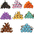 50pcs/lot Pokedoll Plush Pikachu Squirtle Charmander Bulbasaur Eevee Umbreon Sylveon Espeon Stuffed Plush Pendants Keychains 8cm