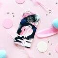 Rosa de la moda de plástico del teléfono case para iphone 6 6 s 6 plus 6 splus pájaros del amor duro de la contraportada de shell envío gratis